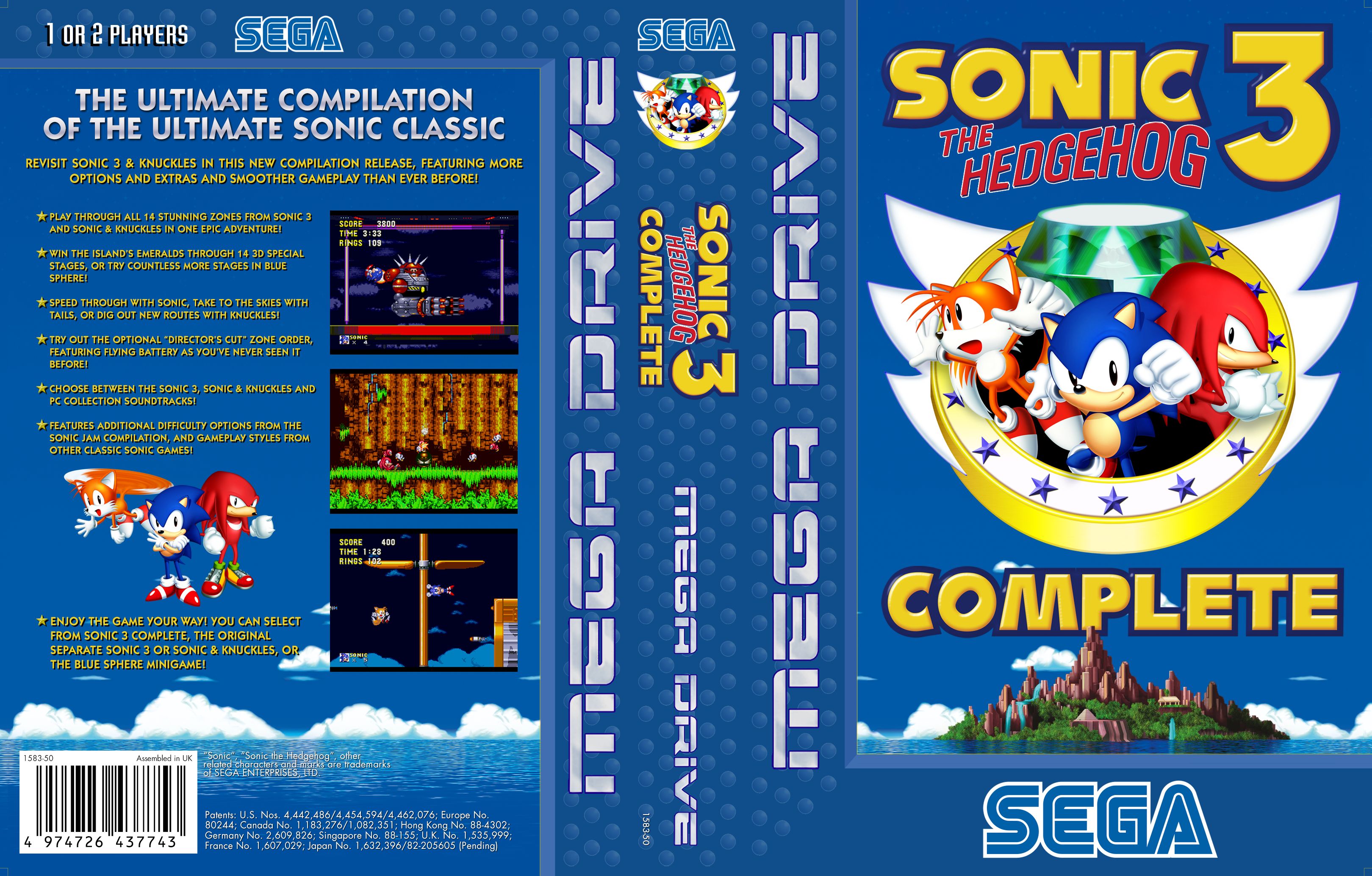 main page sonic 3 complete
